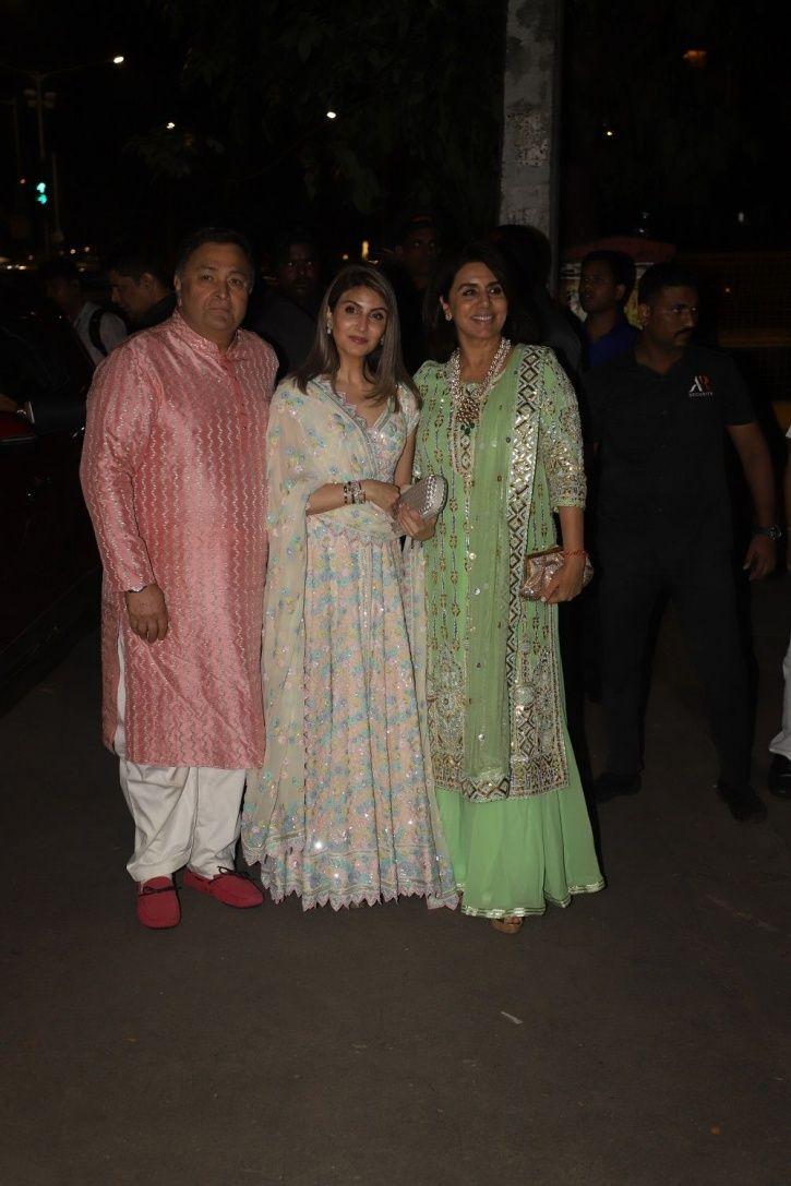 Rishi Kapoor at Bachchans Diwali party