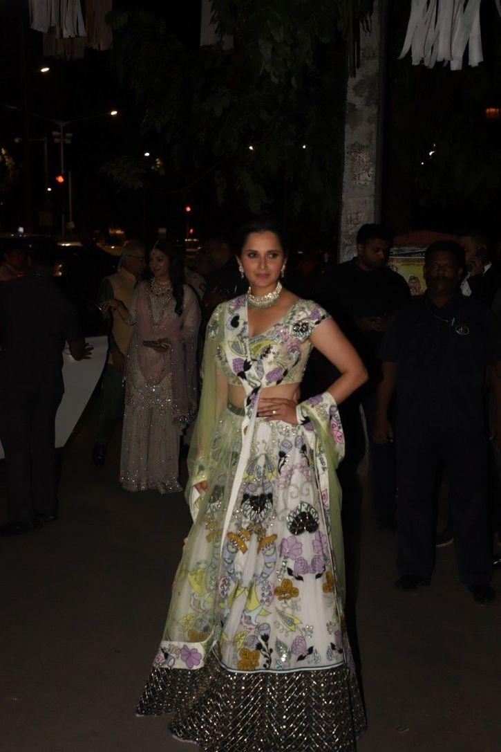 Sania Mirza at Bachchans Diwali party.