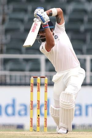 Virat Kohli plays an excellent cover drive