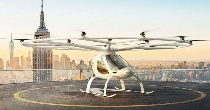 Volocopter Manned Flying Test, Volocopter Air Taxi, Volocopter Flying Taxi Trials, Singapore Flying