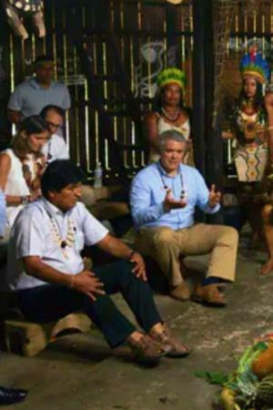 Amazon Nations Hold Meeting With Tribes For Forest Protection In Indigenous Hut Made Of Wood