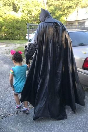 Batman Walks Bullied Child to School