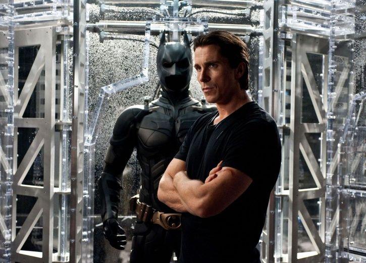 Christian Bale as Batman.