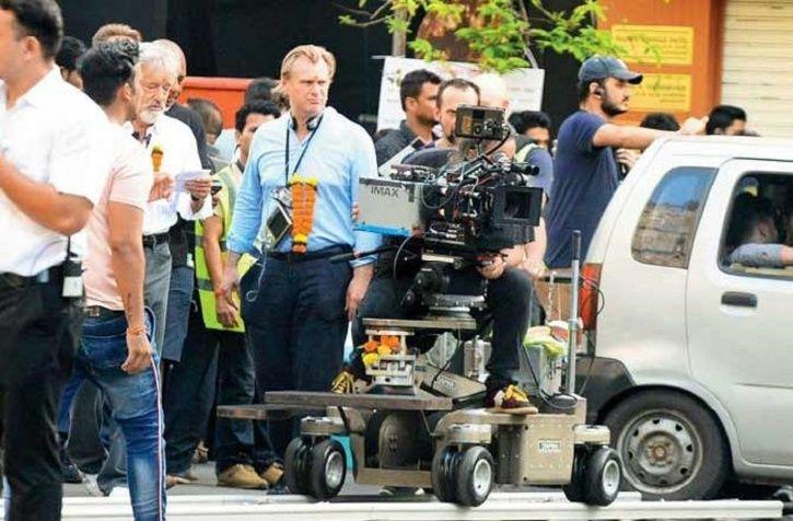 Christopher Nolan shooting for Tenet in Mumbai.