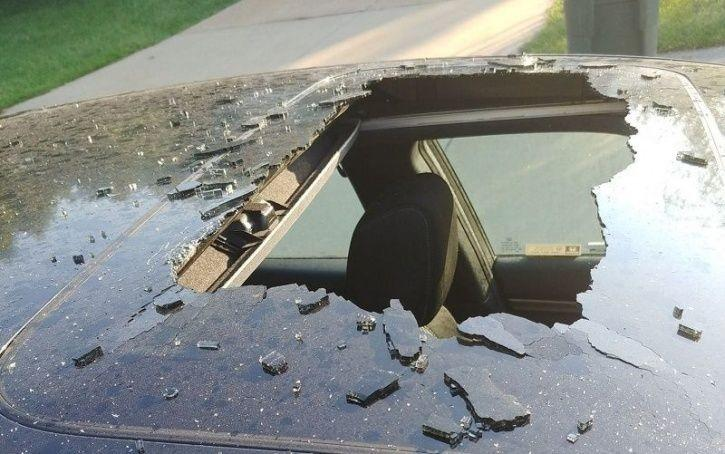 Dry Shampoo Blasts Hole, Hole In Car Roof, Car Accident, Car Mishap, Auto News, Trending News