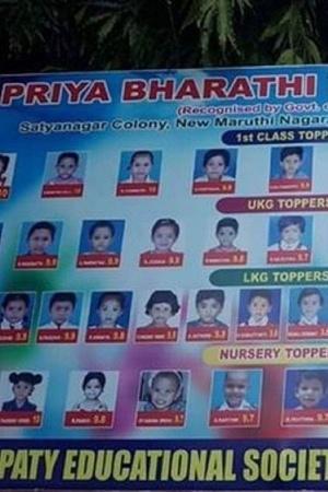 Hyderabad school nursery toppers Kothapet Priya Bharti school LKG UKG
