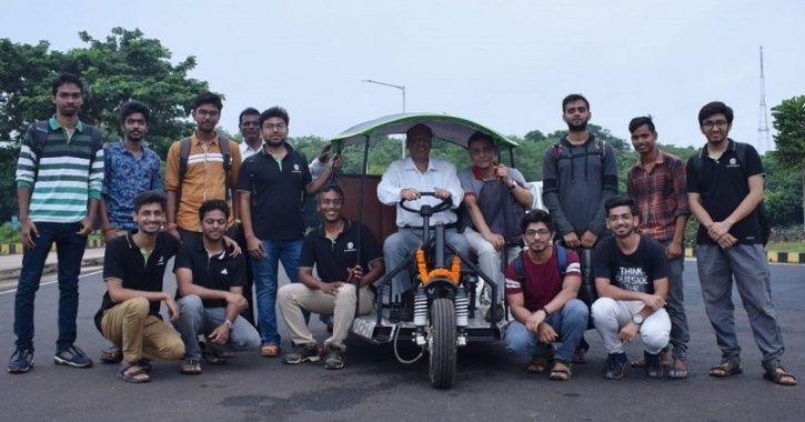 IIT Students, Electric Three Wheeler, Deshla IIT, IIT News, Make In India Vehicle, Electric Auto, El