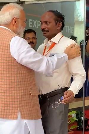 ISRO Chief K Sivan crying