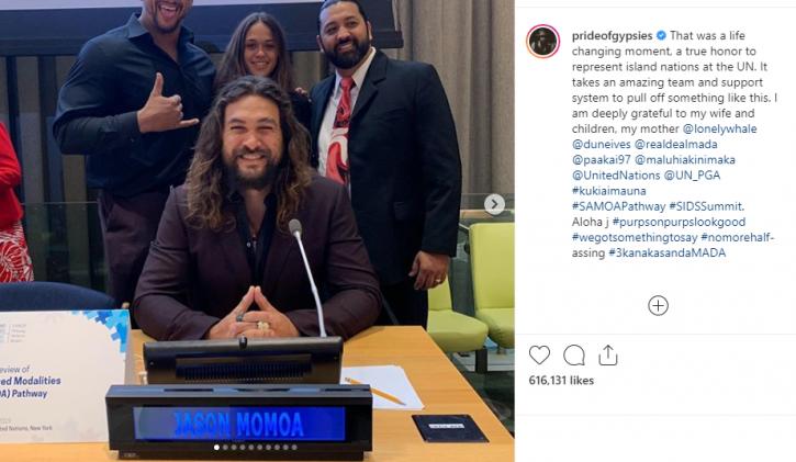 Jason Momoa climate change speech at the UN.