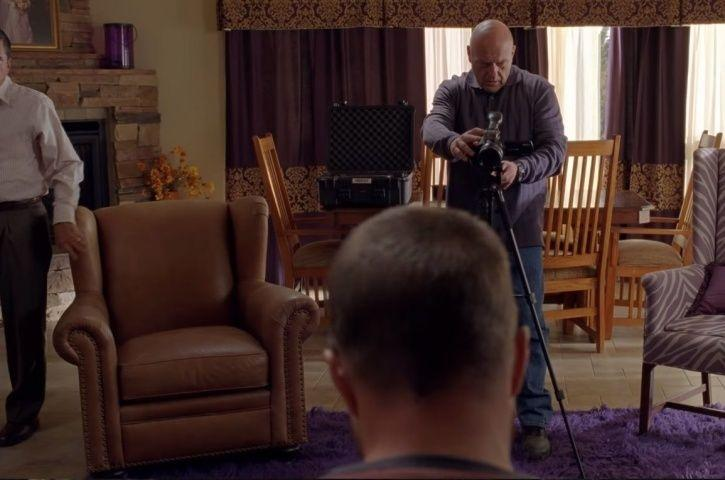 Jesse Pinkman being interrogated in the new El Camino teaser,.