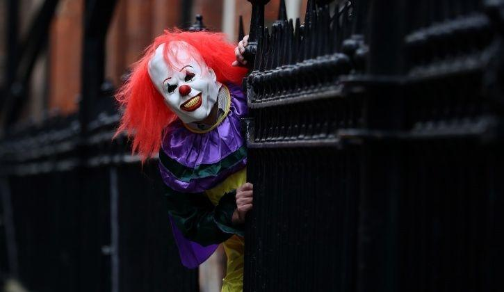 Man dressed up as Pennywise.