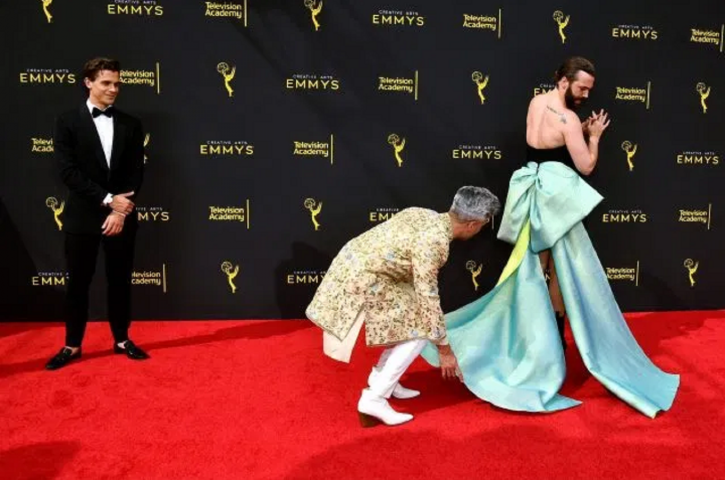 'Put a bow on that ass,' wrote Jonathan Van Ness, who has always been openly gay, on Instagram as he
