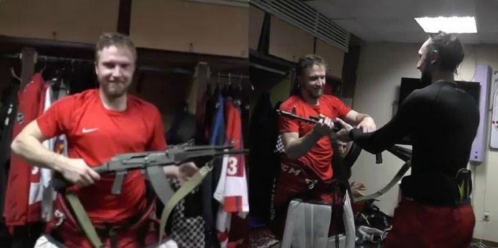 Saveli Kononov got an AK-47