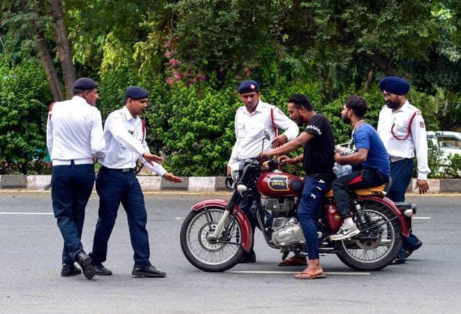 Delhi police body cameras challan:Traffic Violation