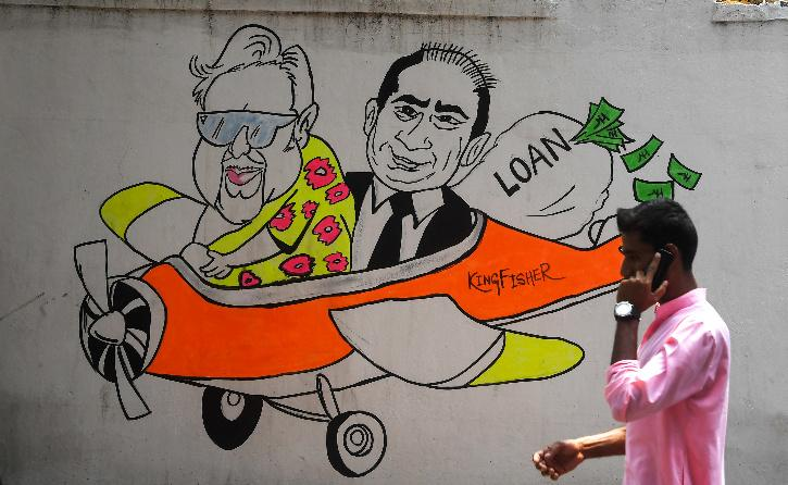 Graffiti showing Vijay Mallya Extradition From UK
