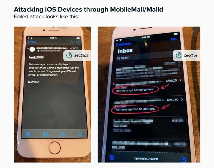 iPhone Mail Flaw