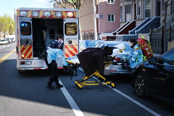 covid ambulance patient