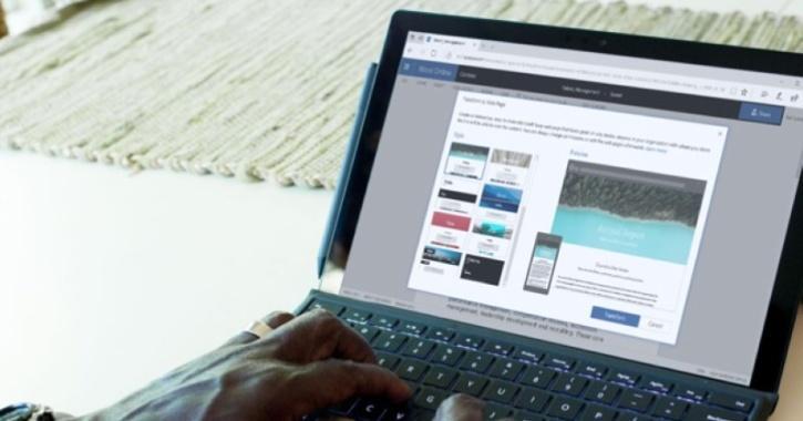 microsoft word on laptop