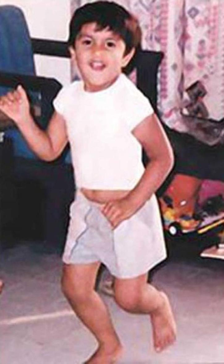 Ranveer Singh childhood photos.