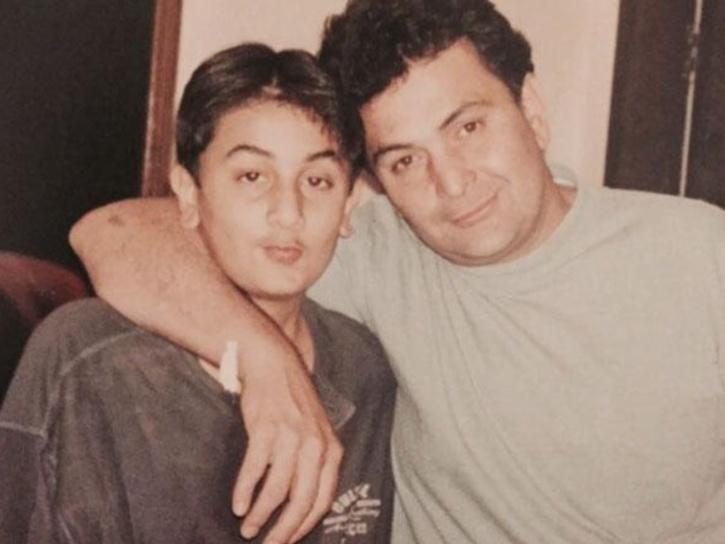 Rishi Kapoor with Ranbir Kapoor.