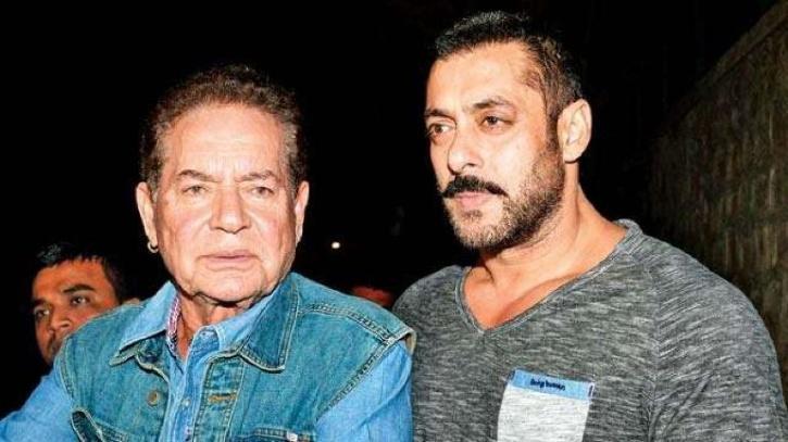 Salman Khan with Salim Khan.