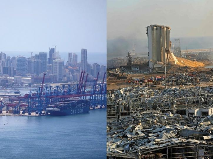 These Before & After Images Show The Trail Of Destruction Left Behind By The Explosion In Beirut