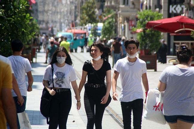 people not wearing masks