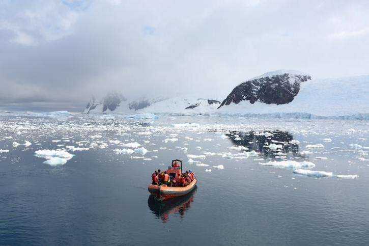 Ice melt caused by climate change crisis