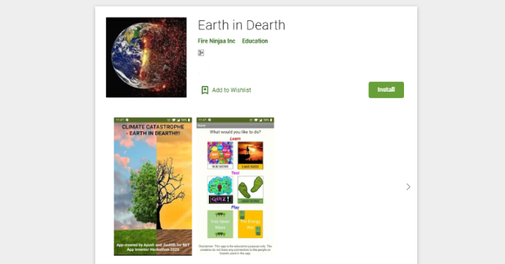 earth in dearth climate change app on play store