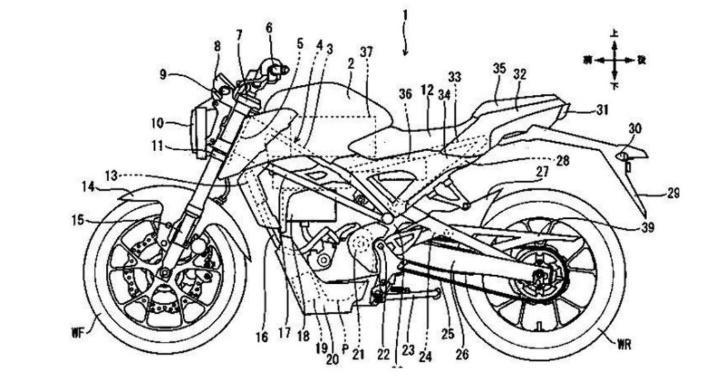 Electric Bike, Honda Electric Bike, CB125R Electric, Honda Electric Patent, Technology News, Auto News