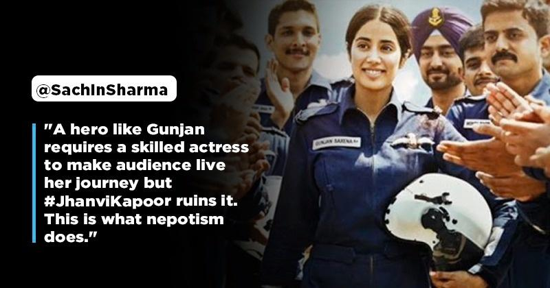 Netizens Demand To Boycott Jahnvi Kapoor's Film Gunjan Saxena Over Claims Of Nepotism