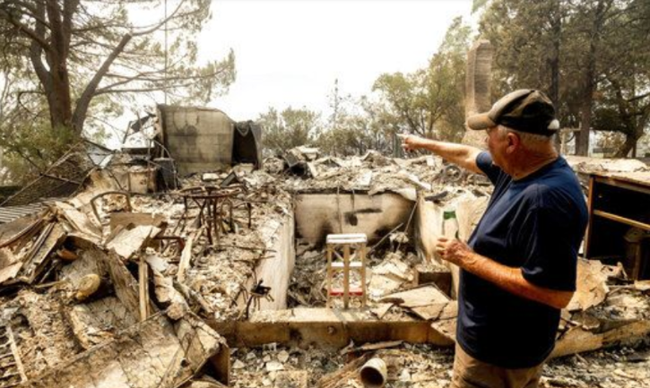 California Fires Takes  Down Dream House