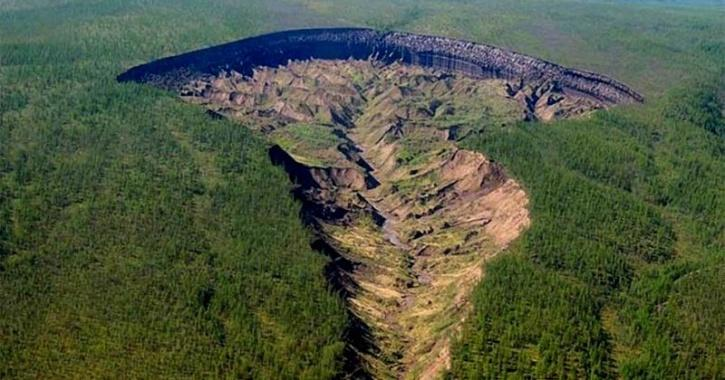 Batagaika crater