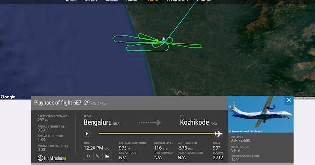 Indigo Flightpath While Landing At Kozhikode