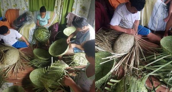laguna weavers making pizza box