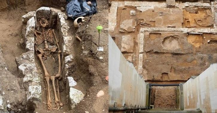 Burial place of medieval Catholic monks uncovered at Westminster Abbey