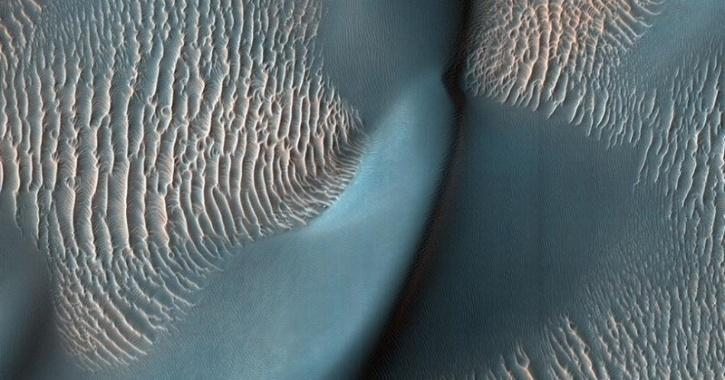 Mars topography captured from space