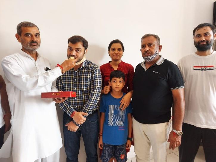 Pradeep Singh with Family