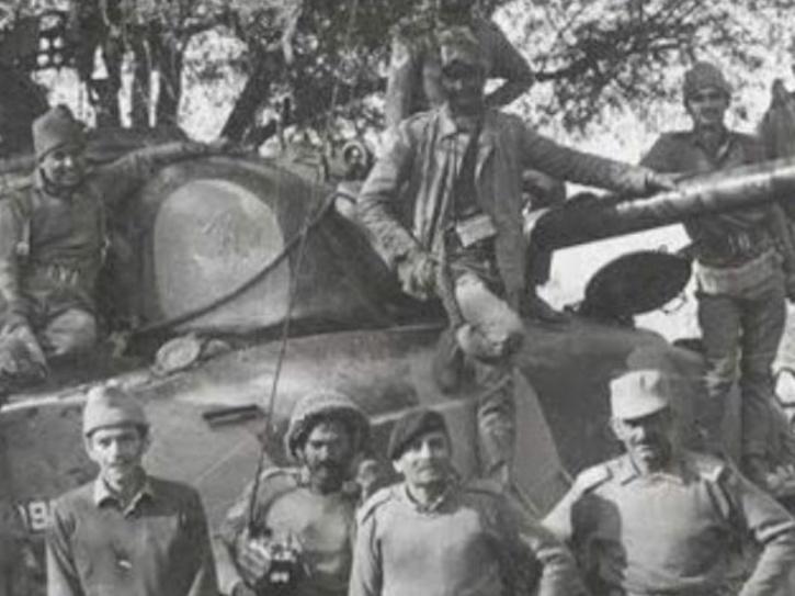 Russian war tank PT-76
