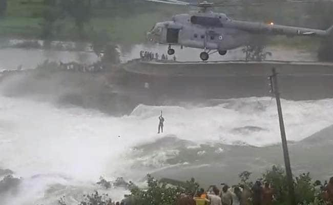 Indian Air Force rescues man stranded in water