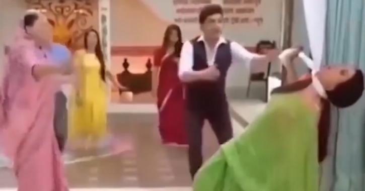 Sasural Simar Ka slap scene