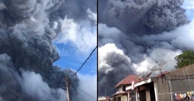 A rumbling volcano in Indonesia erupted, sending a towering column of ash more than 3 miles into the sky and raining down on nearby villages. Mount Si