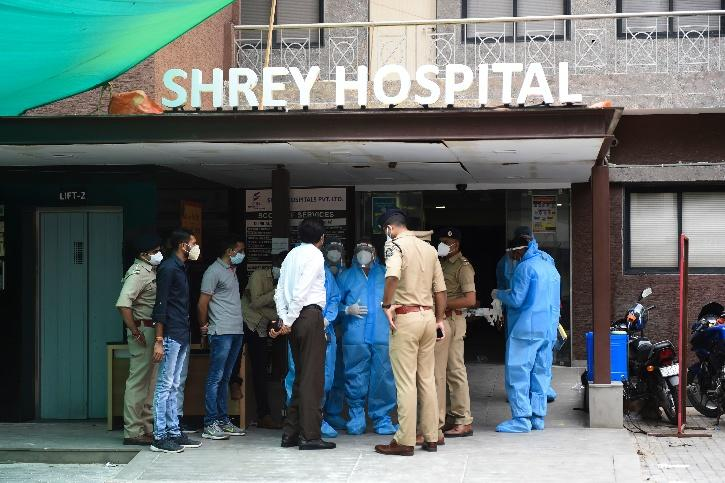 Ahmedabad  hospital fire 3 elderly saved