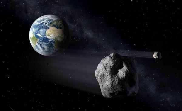 asteroid passing through earth