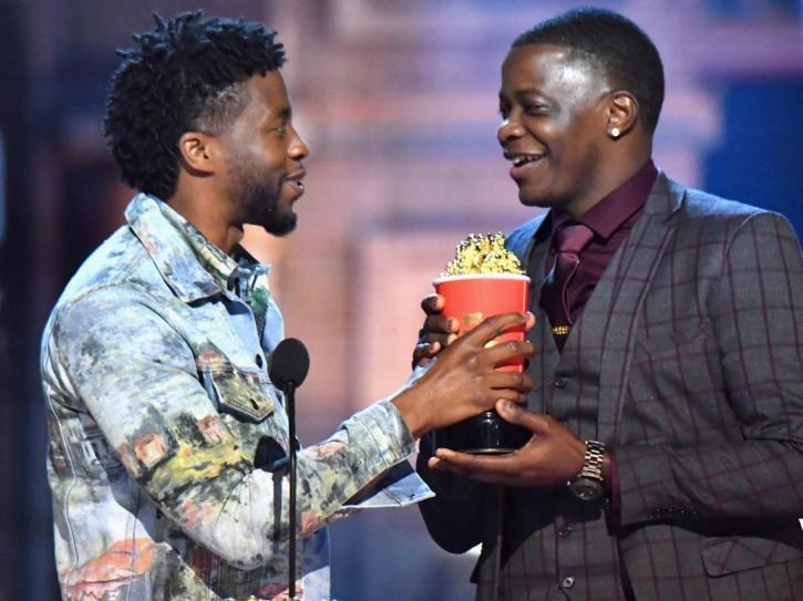 Chadwick Boseman gave away his MTV award to a real-life hero.