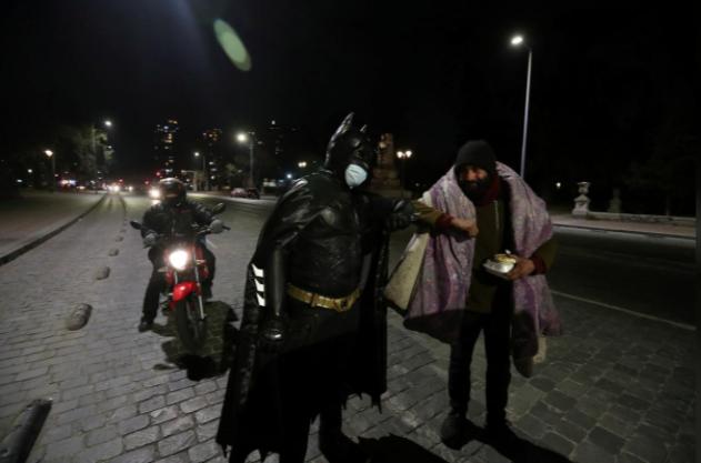 Batman delivering food