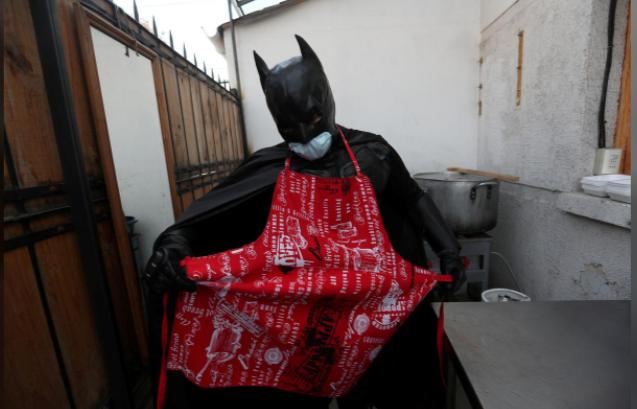 Batman in chef clothes
