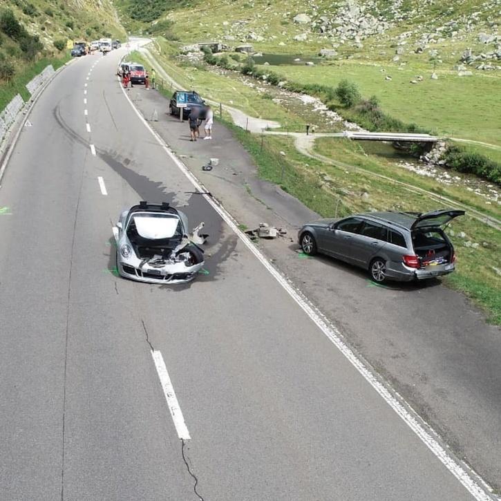 Car crash in Switzerland