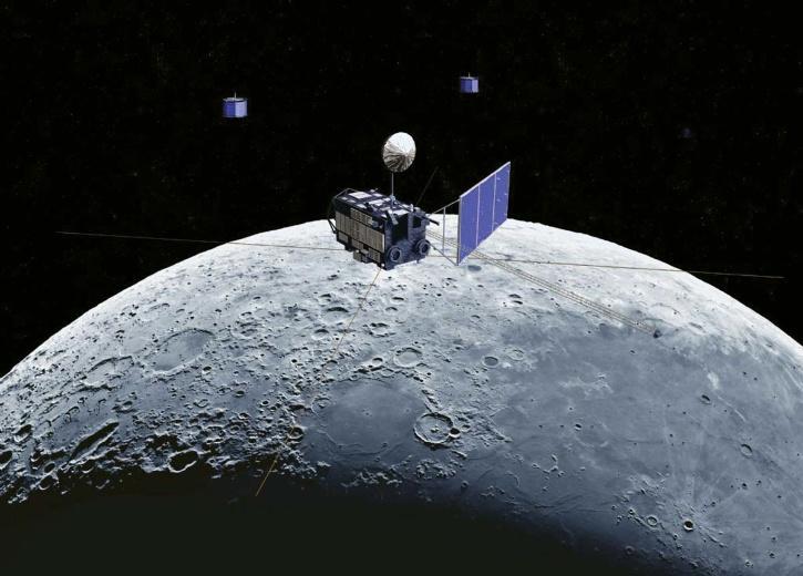 Satellite around moon
