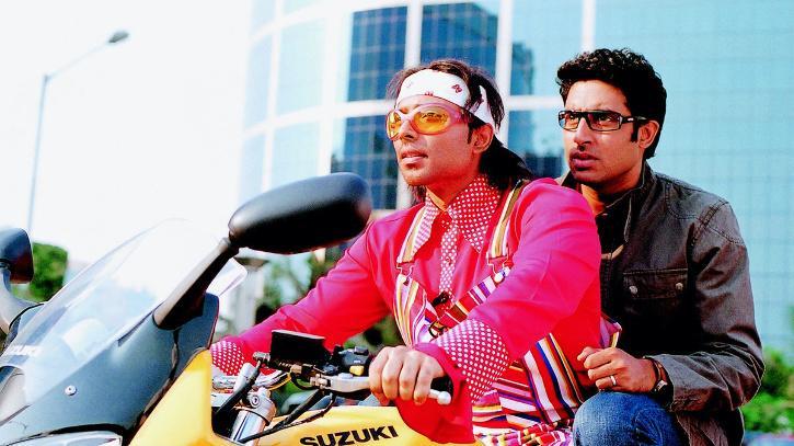 Uday Chopra Abishek Bachchan in Dhoom.